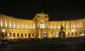 Hofburg at night