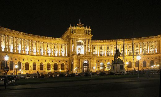 Hofburg at night